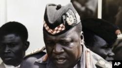L'ex-dictateur ougandais Idi Amin Dada à Kampala, en juillet 1975. (AP Photo)