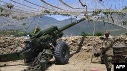 Пакистанская артиллерия в Кашмире