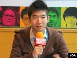 北京大学国际政治关系学院本科3年级学生 罗勉(美国之音张永泰拍摄)