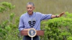 Obama: Iqlimdagi salbiy o'zgarishlarni inkor etish davri o'tdi