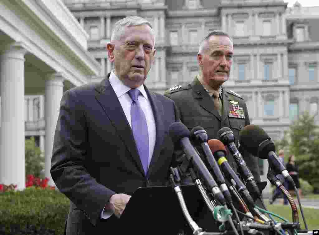 وزیر دفاع آمریکا می گوید هر حمله ای به آمریکا و قلمروهایش مانند گوام یا متحدان ما با پاسخ نظامی بزرگی روبرو خواهد شد.