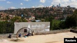 Le memorial du génocide, KIgali, 2 avril 2014