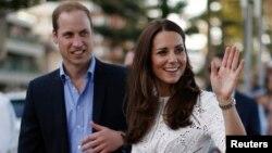 Британский принц Уильям и его супруга Кейт (архивное фото)