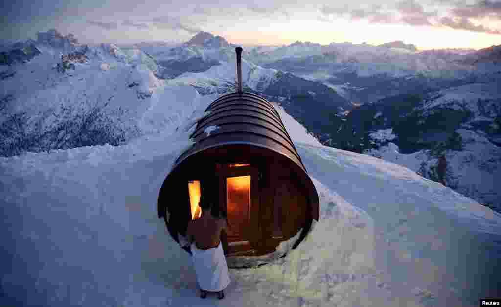 İtaliya - Laqazoi dağında sauna