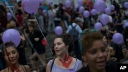 Manifestation contre la violence sexiste à Rio de Janeiro, Brésil, 25 octobre 2016.