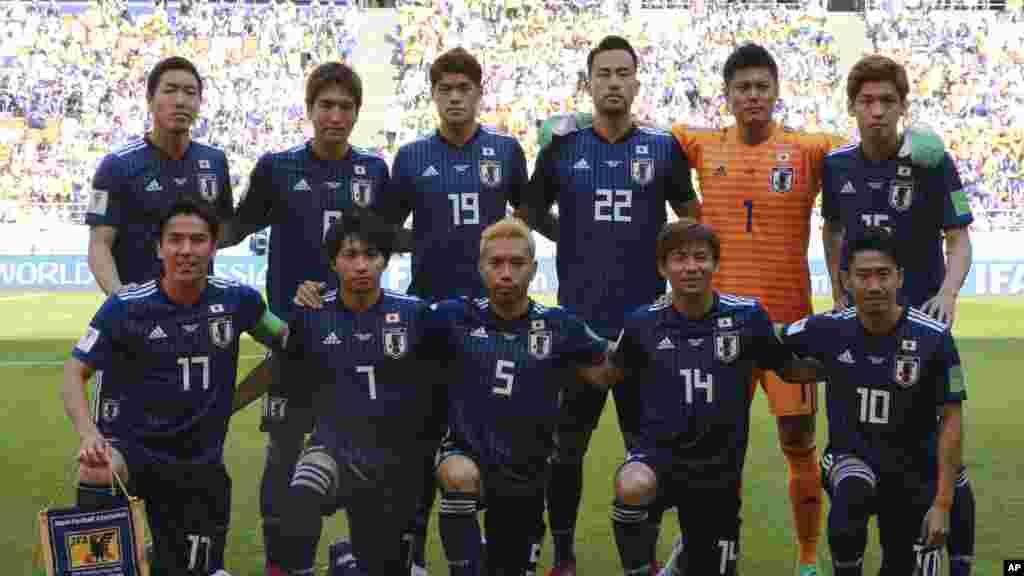 تیم جاپان در نخستین رقابت خود به تاریخ ۱۹ جون کولمبیا را شکست داد