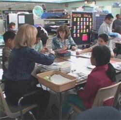 Burmese children in class in Howard County, Maryland