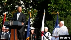 Prezidaant Obaamaaf Pope Fraansis keellaa White House keessatti