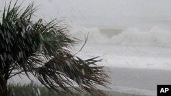 艾琳吹襲南卡羅來納州時。