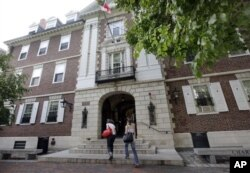 하버드 대학교 내 '커크랜드 하우스' 기숙사 전경.