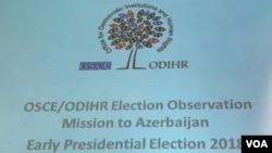 ATƏT DTİHB-in prezident seçkilərini müşahidə missiyası