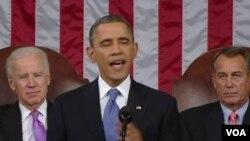 奧巴馬總統星期二在國會發表年度國情咨文演講