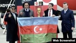 Futbol üzrə dünya çempionatının kuboku Bakıya gətirilib