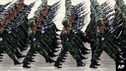 Ngày Quân đội Nhân dân Việt Nam tại Hà Nội, ngày 2/9/2015. (AP Photo/Hau Dinh)