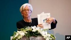 La Directrice du Fonds monétaire international (FMI) Christine Lagarde lors d'une session du Séminaire du G20 sur la réforme structurelle. 26 février 2016 (Photo AP)