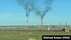 عکس آرشیوی از تاسیسات نفتی کرکوک در شمال عراق