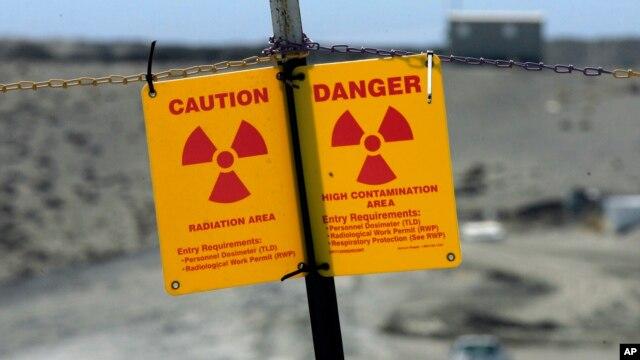 Znak upozorenja na radijaciju u nuklearnom postrojenju Harford blizu Ričlenda