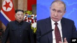 Президент России Владимир Путин. Северокорейский лидер Ким Чен Ын