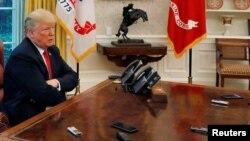 川普总统2018年8月20日在白宫接受路透社专访(路透社)