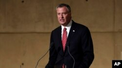 Meya wa New York City, Bill de Blasio.