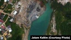 Foto Udara Lubang Bekas Tambang (foto: JATAM Kaltim)