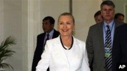 Госсекретарь США Хиллари Клинтон. Пномпень. 11 июля 2012 г.