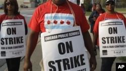 芝加哥教師工會在過去一個星期發動罷工