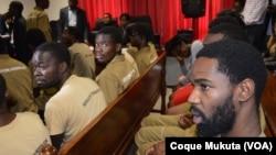 Sedrick de Carvalho no julgamento dos activistas em Luanda, no Tribunal Provincial de Luanda em Benfica. Angola, Nov 16, 2015