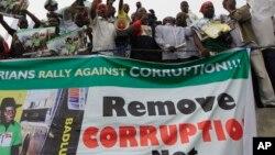 Manifestation contre la corruption au Nigéria (AP)
