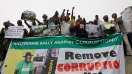 People protest following the removal of  fuel subsidy by the Government in Lagos, Nigeria, January 2012.