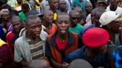 Des partisans de l'Union nationale provinciale pour les Fédéralistes du Congo (UNAFEC) lors d'un rassemblement à Lubumbashi, 10 décembre 2011. Le parti est passé à l'opposition en septembre 2016 et réclame des élections sans le président joseph Kabila.