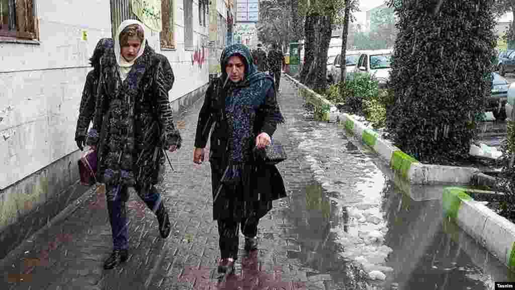 بارش برف در ابتدای آبان ماه در شهر اردبیل. عکس: محسن زارع
