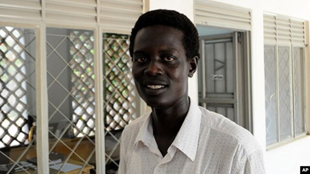 The Deputy Editor of the Destiny newspaper, Dengdit Ayok, after being released from custody in Juba, November 19, 2011.