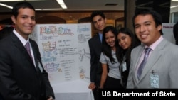 """Youth in Action"" exchange program participants 2012"