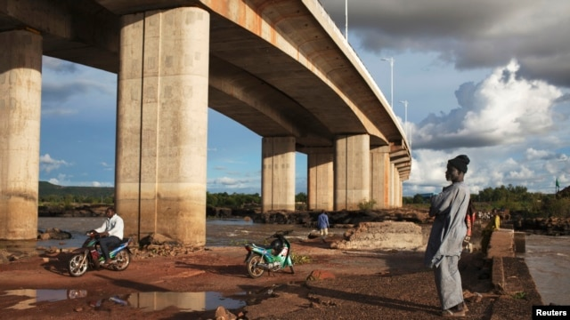 FILE - A bridge built by the China Gezhouba (Group) Corporation in Bamako, Mali, in 2011, one of many engineering projects conducted in Africa to realize the 'Chinese Dream'.