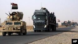 گروهی از یگان های ارتش عراق در مسیر موصل