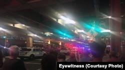 Evacuação no aeroporto JFK, Nova Iorque