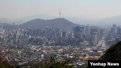 한국 수도 서울 전경 (자료사진)