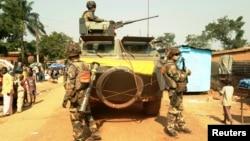 Des soldats français à Bangui le 17 décembre 2013. (Reuters / Pete Cobus)