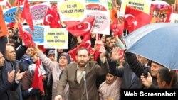 Kürəsünni türklərinin mitinqi - 11 aprel Türkiyə, Van