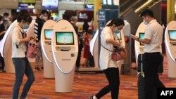 新加坡國際機場1月30日對新冠狀病毒的傳播採取嚴格的監控措施