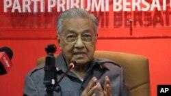 Malayziya sobiq bosh vaziri Mahathir Muhammad