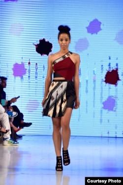 Koleksi pakaian Rinda Salmun dipamerkan di ajang Los Angeles Fashion Week (foto/dok: Rinda Salmun)