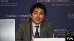 日本防衛省防衛研究所資深研究員增田雅之(美國之音鍾辰芳拍攝)