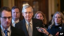 Senatè Repibliken Eta Kentucky Mitch McConnell. AP/ Scott Applewhite