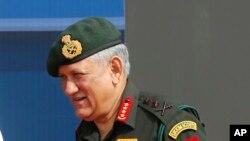 بھارتی فوج کے سربراہ بپن راوت، فائل فوٹو