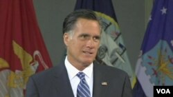 ທ່ານ Mitt Romney ຜູ້ສະມັກປະທານາທິບໍດີຂອງພັກຣີພັບບລີກັນ ກ່າວໂຈມຕີນະໂຍບາຍການຕ່າງປະເທດຂອງປະທານາທິບໍດີໂອບາມາ.