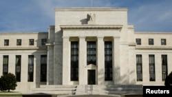 FILE - The U.S. Federal Reserve Board building.