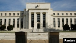 FILE - The U.S. Federal Reserve Board building in Washington.