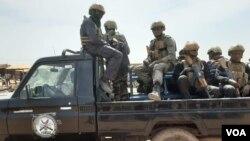 Soldats maliens à Bamako le 7 février 2020.
